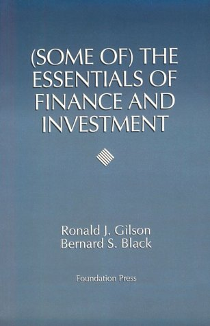 Some of the Essentials of Finance and Investment   1993 edition cover