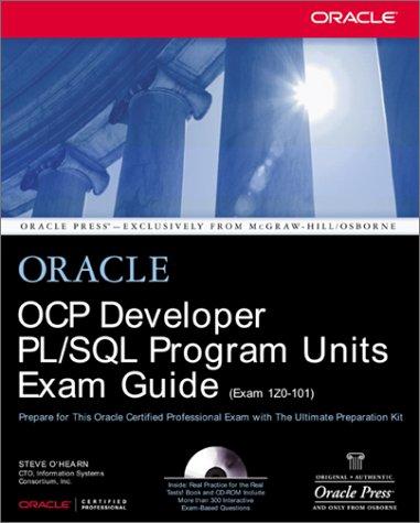 OCP Developer PL/SQL Program Units Exam Guide   2002 edition cover