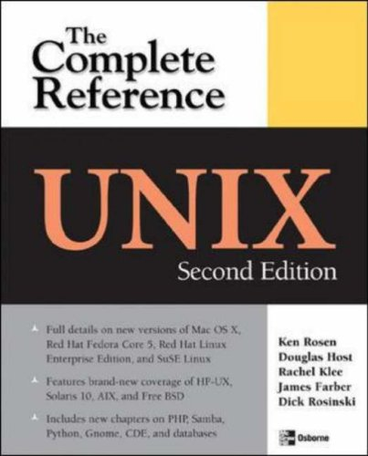 Complete Reference - UNIX  2nd 2007 (Revised) edition cover
