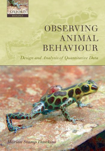 Observing Animal Behaviour Design and Analysis of Quantitative Data  2007 edition cover