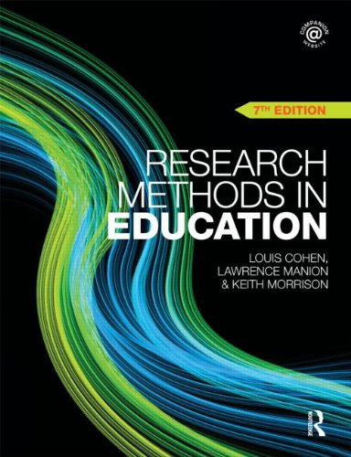 Research Methods in Education  7th 2011 (Revised) edition cover
