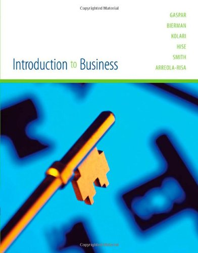 Introduction to Business   2006 (Student Manual, Study Guide, etc.) 9780618306367 Front Cover