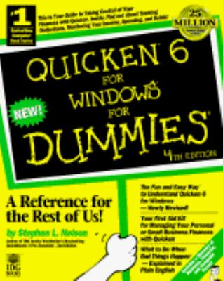 Quicken 6 for Windows for Dummies 4th 1997 9780764500367 Front Cover