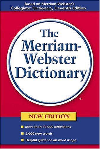 Merriam-Webster Dictionary   2005 edition cover