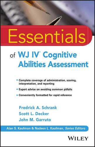 Essentials of WJ IV� Cognitive Abilities Assessment   2016 9781119163367 Front Cover