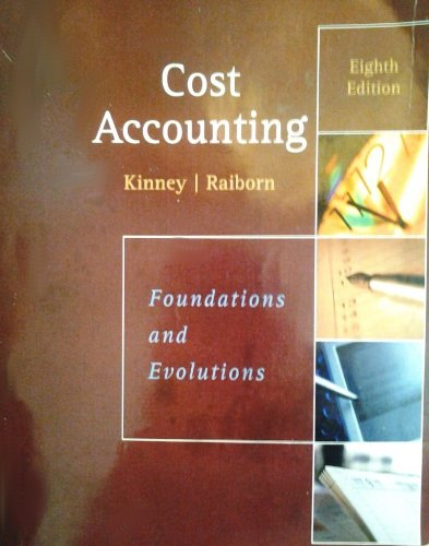 COST ACCOUNTING >CUSTOM< N/A 9781133361367 Front Cover