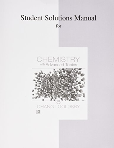 Student Solutions Manual for Chemistry With Advanced Topics 12th 2015 edition cover