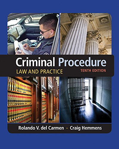 Criminal Procedure: Law and Practice  2016 9781305577367 Front Cover