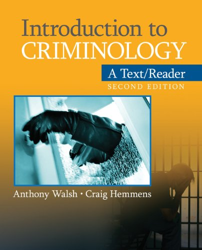 Introduction to Criminology A Text/Reader 2nd 2011 edition cover