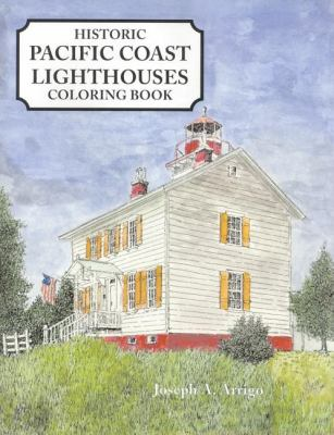 Pacific Coast Lighthouses Coloring Book  N/A 9781557095367 Front Cover