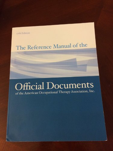 REFERENCE MAN./OFFICAL DOCUMEN N/A 9781569003367 Front Cover