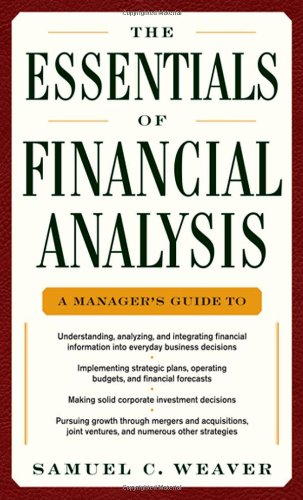 Essentials of Financial Analysis   2012 edition cover