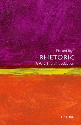 Rhetoric: a Very Short Introduction   2013 edition cover