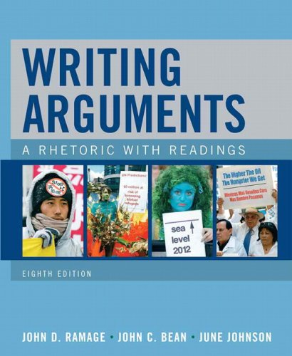 Writing Arguments A Rhetoric with Readings 8th 2010 edition cover
