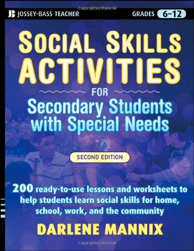 Social Skills Activities for Secondary Students with Special Needs  2nd 2009 edition cover