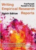 Writing Empirical Research Reports: A Basic Guide for Students of the Social and Behavioral Sciences 1st 2014 edition cover