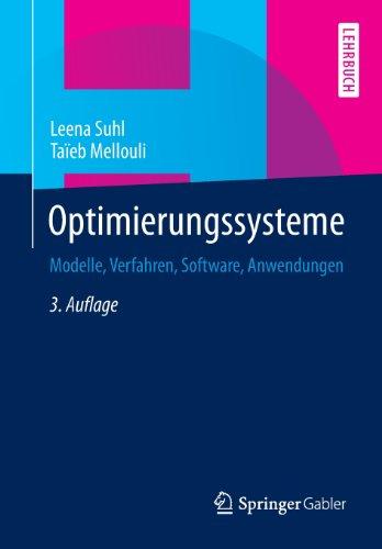 Optimierungssysteme Modelle, Verfahren, Software, Anwendungen 3rd 2013 edition cover