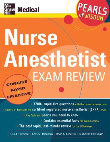 Nurse Anesthetist Exam Review: Pearls of Wisdom   2006 9780071464369 Front Cover