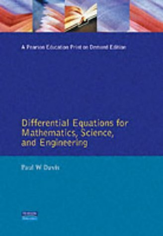 Differential Equations for Mathematics, Science and Engineering  1st 1992 9780132112369 Front Cover