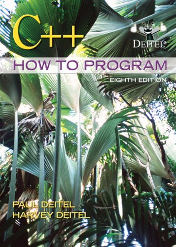 C++ How to Program  8th 2012 edition cover