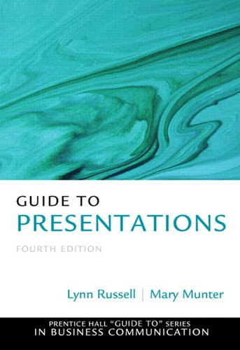 Guide to Presentations  4th 2014 edition cover