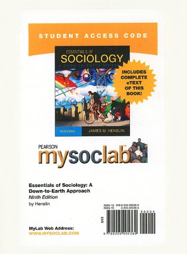 Essentials of Sociology  9th 2011 edition cover