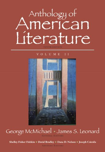 Anthology of American Literature  10th 2011 edition cover