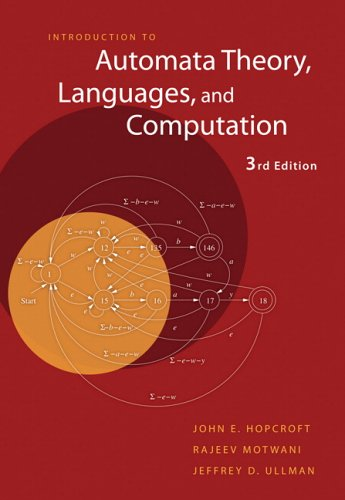 Introduction to Automata Theory, Languages, and Computation  3rd 2007 (Revised) edition cover