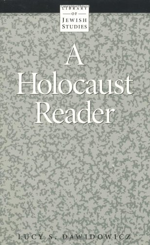 Holocaust Reader 1st 9780874412369 Front Cover