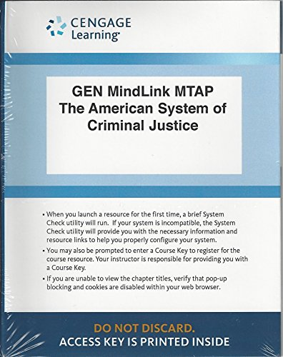 AMER.SYS.OF CRIMINAL...-MINDTAP ACCESS  N/A 9781285840369 Front Cover