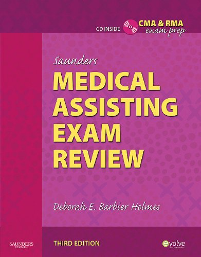 Saunders Medical Assisting Exam Review  3rd 2011 edition cover