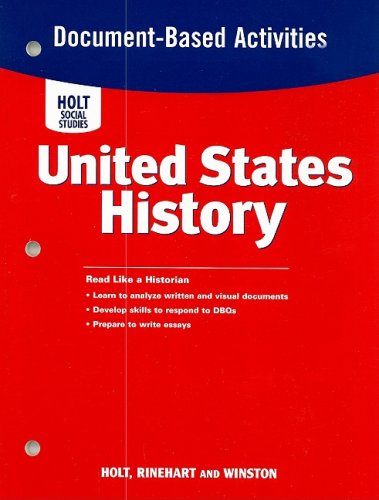 United States History Document-Based Activities N/A 9780030412370 Front Cover