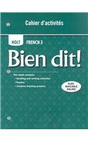 Bien Dit! - French 3   2007 9780030920370 Front Cover