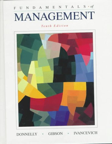 Fundamentals of Management 10th 1998 9780256232370 Front Cover