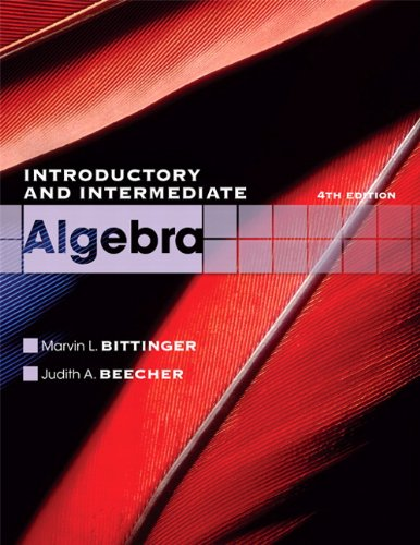 Introductory and Intermediate Algebra  4th 2011 edition cover