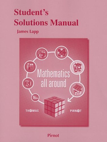 Student Solutions Manual for Mathematics All Around  5th 2014 edition cover