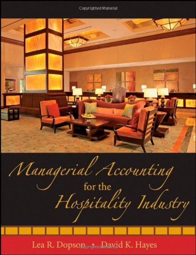 Managerial Accounting for the Hospitality Industry   2009 edition cover