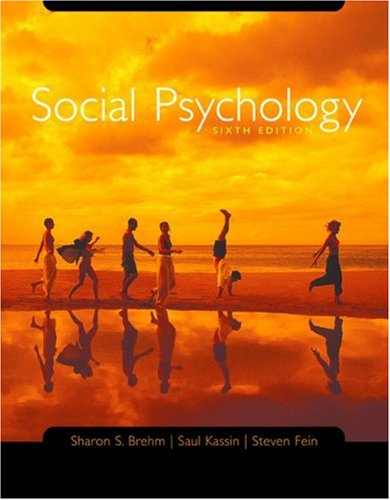 Social Psychology 6th 2005 9780618403370 Front Cover