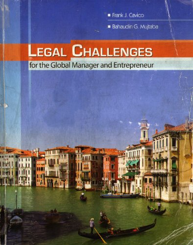Legal Challenges for the Global Manager and Entrepreneur  Revised  edition cover