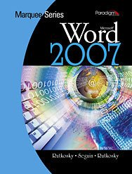 MICROSOFT WORD 2007-W/CD W/WIN 1st 9780763831370 Front Cover