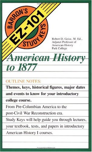 American History to 1877   1992 edition cover