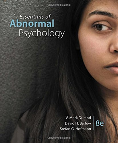 Essentials of Abnormal Psychology:   2018 9781337619370 Front Cover