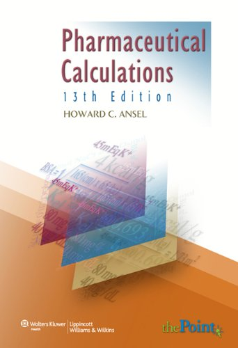 Pharmaceutical Calculations  13th 2009 (Revised) edition cover