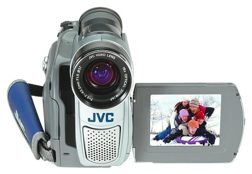 JVC GR-D70 MiniDV Camcorder with 3-Inch LCD, 16x Optical Zoom and SD/MMC Card Slot product image