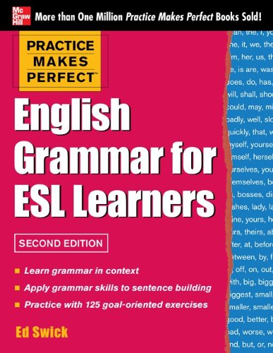English Grammar for ESL Learners  2nd 2013 edition cover