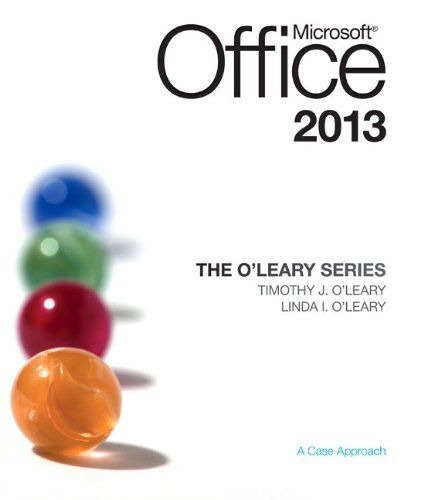 Microsoft Office 2013 1st 2014 edition cover
