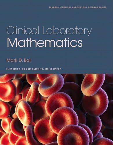 Clinical Laboratory Mathematics   2014 edition cover