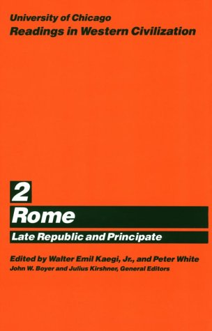University of Chicago Readings in Western Civilization Rome  1986 (Reprint) edition cover