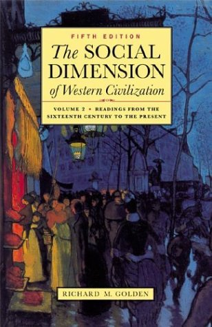 Social Dimension of Western Civilization  5th 2003 edition cover