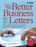 How to Write Better Business Letters  5th 2013 (Revised) edition cover